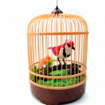 AZIBC507E Animated Chirping Bird in Bird Cage