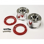 KYOMAH401SMRPA Chrome Finish Wheels And Red Bead Lock