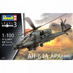 REG04985 AH-64A  Apache 1/100 Scale Plastic Model Kit Revell