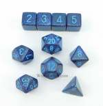 KOP09984 Cobalt Elemental Dice With Blue Numbers Set 10pc Dice