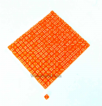 KOP00645 Orange Opaque with White Pips Deluxe Dice 5mm (13/64in) Six Sided (d6) Bulk pack of 250 Dice Koplow Games