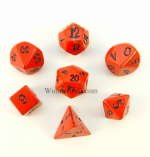 CYC02002 Red Jasper 12mm Dwarven Stones (7) by Crystal Caste