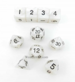 KOP10075 Gray Pearlized Dice With Black Numbers Set 10pc Dice