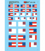 MSM60-1176 Confederate States of America National Flags (1861-1865) N Scale Micro Scale Models