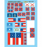 MSM87-1177 Confederate States of America Battle Flags (1861-1865) HO Scale Micro Scale Models
