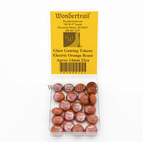 WON0074 Electric Orange Roast Gaming Counter Tokens Aprox 14mm Pack of 22