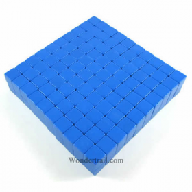 KOP01979 Blue Blank Opaque Dice D6 16mm (5/8in) Bulk Pack of 200