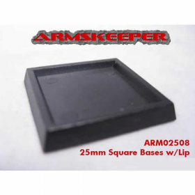 ARM02508 Square Solid 25mm Bases w/Lip Mega Pack (80)