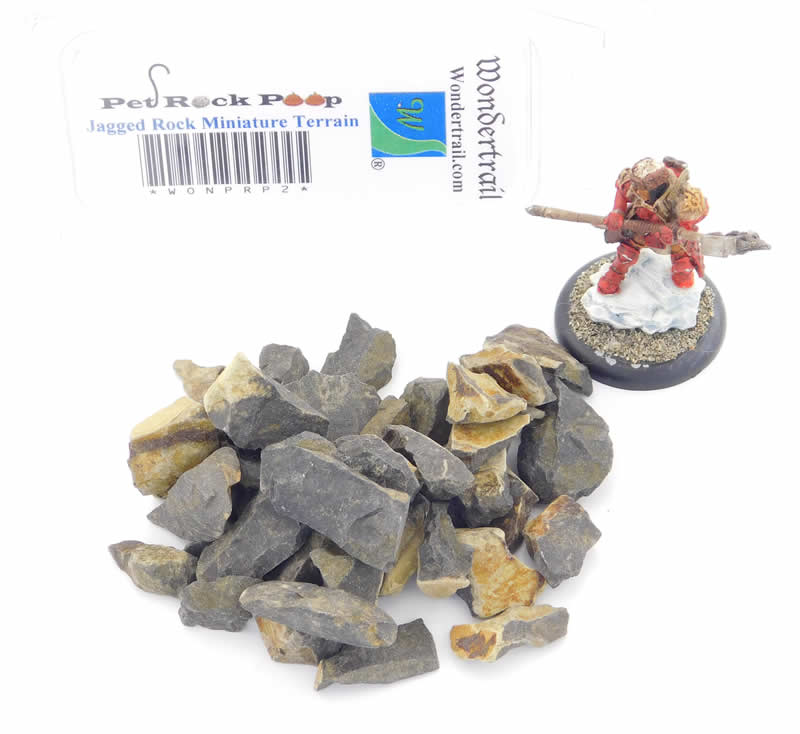 WONPRP2 Jagged Rock Miniature Terrain Pet Rock Poop Series