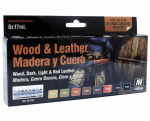 VAL70182 Wood and Leather Step by Step Model Paint Set Vallejo