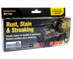 VAL70183 Rust Stain and Streaking Step by Step Model Paint Set Vallejo