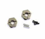 KYOLAW30GMPA Clamp Wheel Hub Hexes Aluminium 12mm 2pc Kyosho
