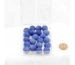 WONGM035 Blue Frosted Marbels 14mm Glass Marbles Pack of 20