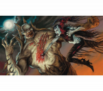 ACT029 Nosferatu vs ZombieLord  Card Game Playmat