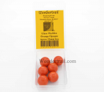 WONGM201 Orange Opaque 22mm Glass Marbles Pack of 6