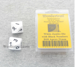 WKP04802E2 White Jumbo Dice with Black Numbers D10 31mm Pack of 2