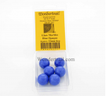 WONGM206 Blue Opaque 22mm Glass Marbles Pack of 6