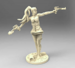 MRMMR004 Autumn Grey Crossbow Girl Miniature Magic Reality Miniatures