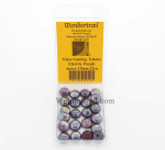 WON0096 Electric Purple Gaming Counter Tokens Aprox 15mm Pack of 22