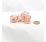 WKP10302E4 Red Doubling Cube Dice White Pips D8 19mm Pack of 4