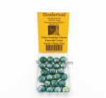 WON0095 Emerald Green Gaming Counter Tokens Aprox 15mm Pack of 22