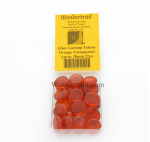 WON0122 Orange Transparent Gaming Counter Tokens Aprox 20mm Pack of 22