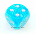 CHXDC5055 Cirrus Aqua D6 With Silver Pips 50MM Chessex