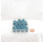WONGM029 Periwinkle Transparent Marbels 14mm Glass Marbles Pack of 20