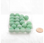 WONGM033 Green Frosted Marbels 14mm Glass Marbles Pack of 20