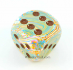 CHXDF5061 Festive Vibrant D6 With Brown Pips 50MM Chessex