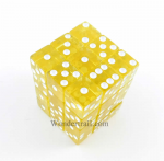 KOP01856 Yellow Transparent with White Pips Dice 12mm (1/2in) Six Sided (d6) Pack of 36 Dice Koplow Games