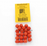 WONGM031 Red Frosted Marbels 14mm Glass Marbles Pack of 20