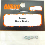 DUB2103 2mm Hex Nuts by Dubro