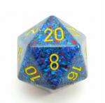 CHXXS2006 Blue Yellow Twilight Speckled 34mm d20 Die Chessex
