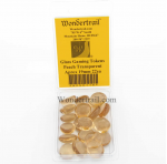 WON0118 Peach Transparent Gaming Counter Tokens Aprox 19mm Pack of 22
