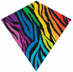 BRS70304 WindDiamond Stripes 30in Nylon Kite Brainstorm Products