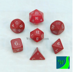 CYC02620 Red Hue Dwarven Metal Dice 16mm 7 Piece Set Crystal Caste