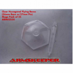 ARM02530 Hexagonal 26mm Clear Flying Bases with 27mm Pin (25)