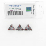 WKP09634E3 Granite Elemental Dice with Red Numbers D4 16mm (5/8in) Pack of 3