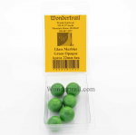 WONGM203 Green Opaque 22mm Glass Marbles Pack of 6