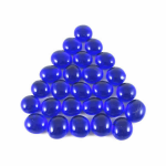 CHX01126 Dark Blue Glass Gaming Stones (20 or More) Chessex
