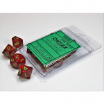 CHX25104 Strawberry Speckled D10 Dice Green Numbers 16mm Pack of 10