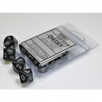 CHX25118 Ninja Speckled D10 Dice Silver Numbers 16mm Pack of 10