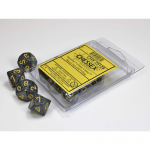 CHX25128 Urban Camo Speckled D10 Dice Yellow Numbers 16mm Pack of 10