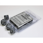 CHX25140 Hi Tech Speckled D10 Dice Silver Numbers 16mm Pack of 10