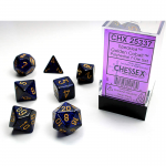 CHX25337 Golden Colbat Speckled Dice Gold Numbers 16mm Set of 7