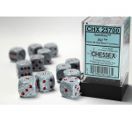 CHX25700 Air Speckled D6 Dice Red Pips 16mm Pack of 12