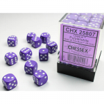 CHX25807 Purple Opaque D6 Dice with White Pips 12mm (1/2in) Pack of 36
