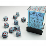 CHX25900 Air Speckled D6 Dice Red Pips 12mm (1/2in) Pack of 36
