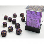 CHX25917 Hurricane Speckled D6 Dice Gold Pips 12mm (1/2in) Pack of 36